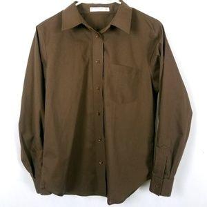 Foxcroft Wrinkle Free Petite Button Down Shirt